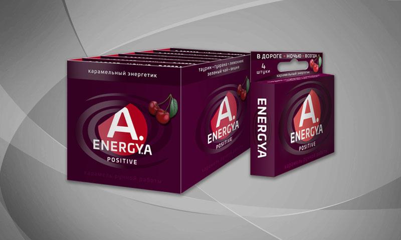 Карамельный энергетик «ENERGYA POSITIVE» со вкусом вишни